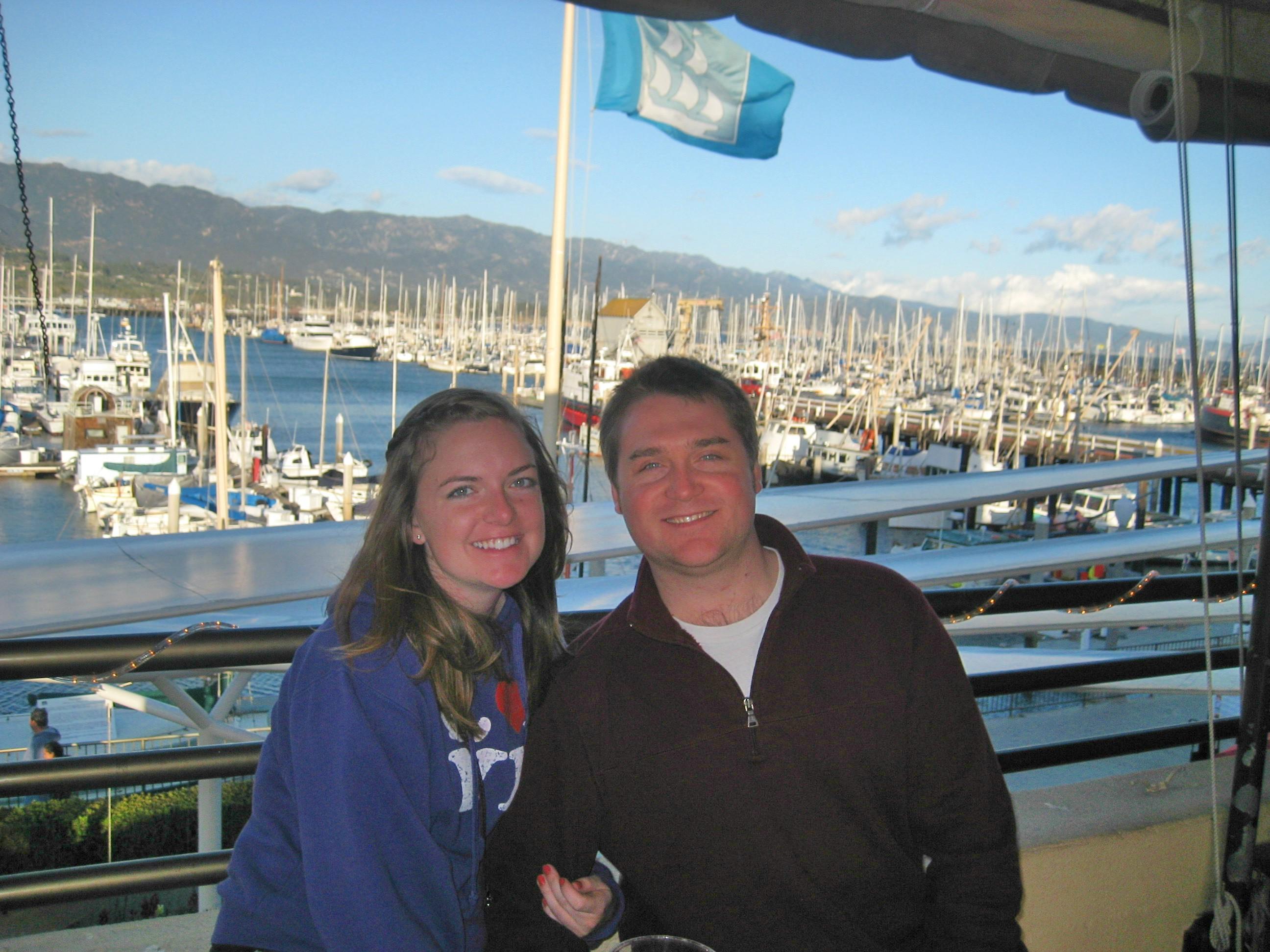 Kara and Tim at Santa Barbara Harbor